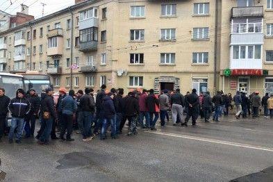 У Тернополі перекривали дорогу / Фото: Соцмережі
