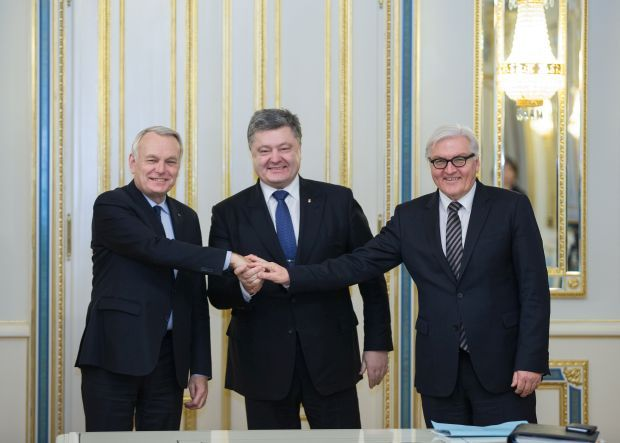 The German and French ministers of foreign affairs are visiting Kyiv  / Photo from president.gov.ua