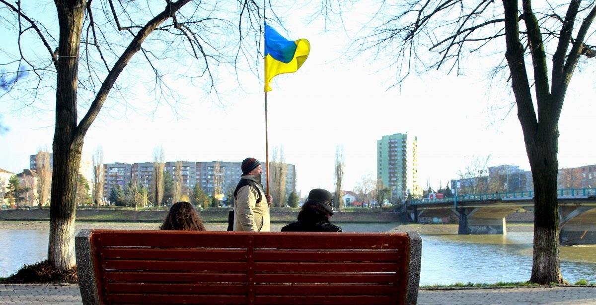 украина флаг патриотизм украинцы / УНИАН