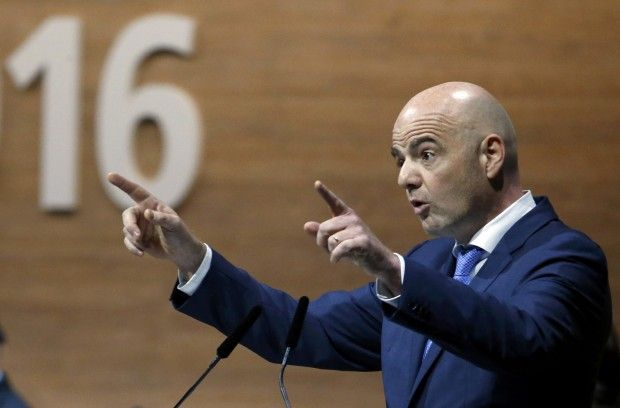 Президент ФИФА Джанни Инфантино категорически против проведения матчей европейских чемпионатов за пределами стран/ Reuters