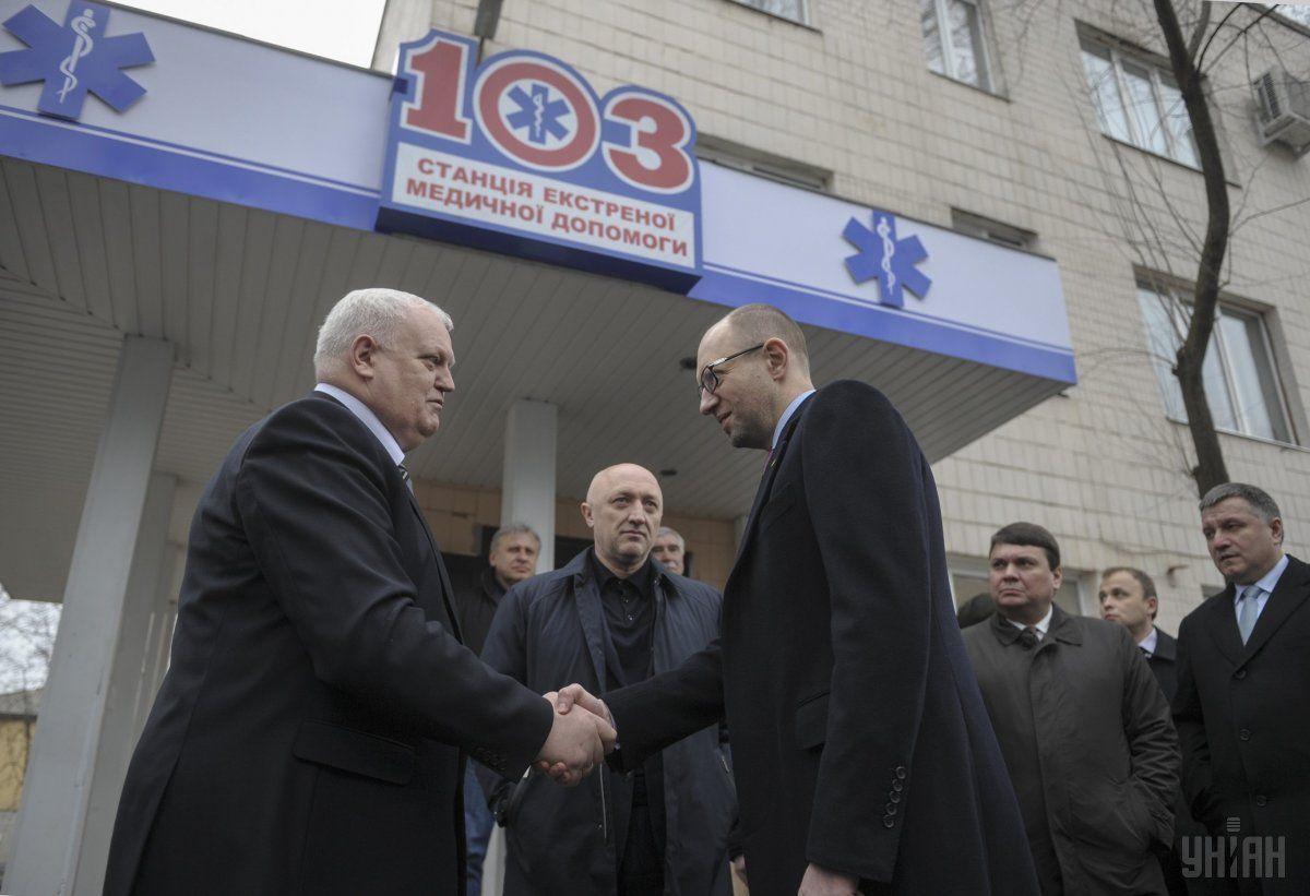 Арсений Яценюк посетил Центр экстренной медицины и медицины катастроф в г.Полтава / Фото: УНИАН