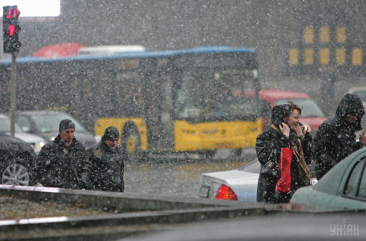 В Украину идет мокрый снег / Фото УНИАН