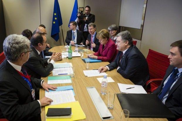 Poroshenko has met with Merkel and Hollande / Photo from president.gov.ua