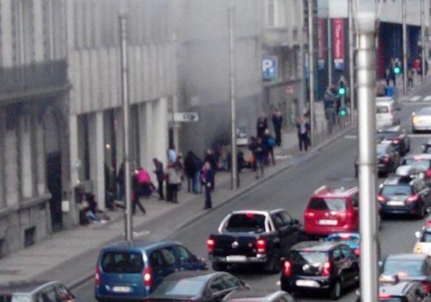 Теракты в Брюсселе. Взрыв на станции метро / rtbf.be