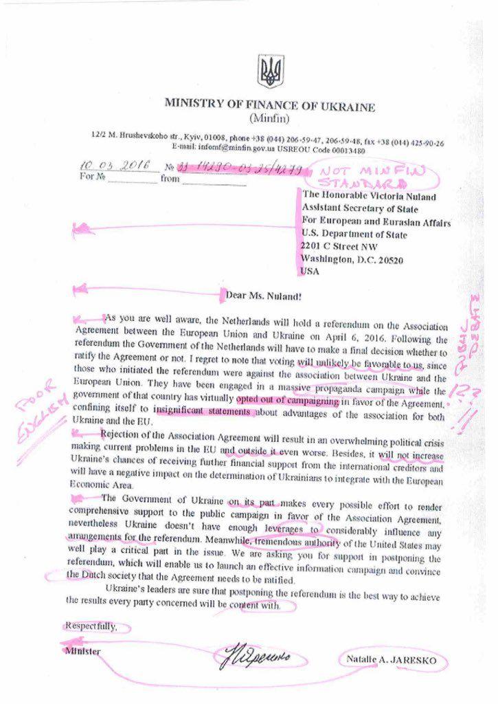 The fake letter / twitter.com/n_jaresko