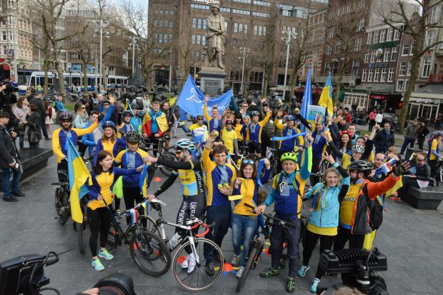 Ukrainians call on the Dutch to support the ratification of the Association Agreement between Ukraine and the EU / Photo from UNIAN