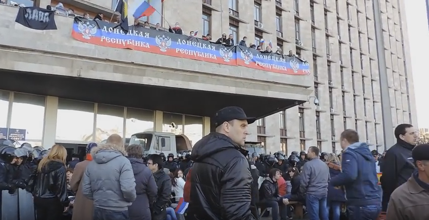 Seizure of the Donetsk Regional State Administration / Screenshot