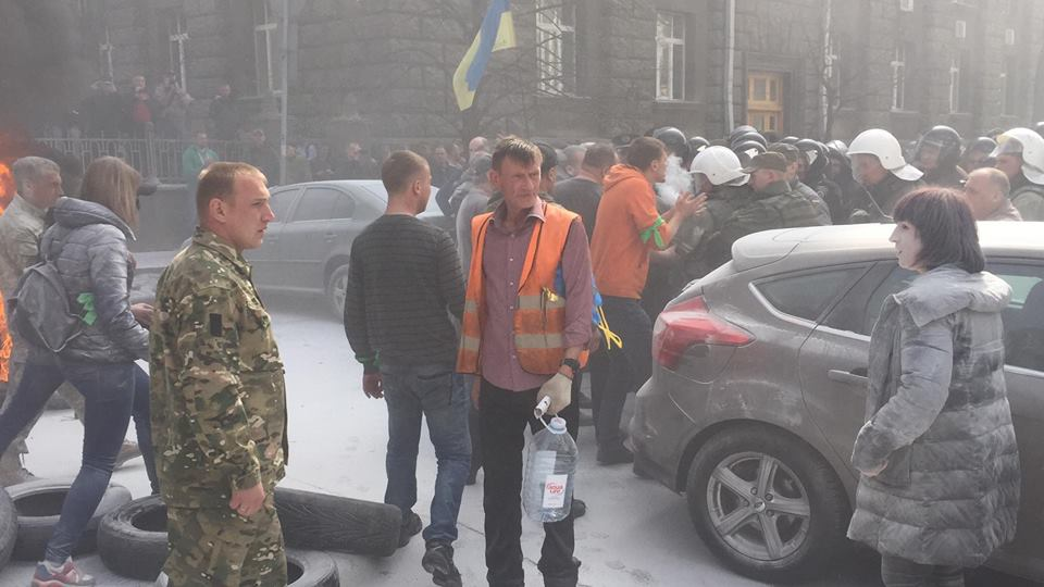 Protesters insist on real lustration at law-enforcement agencies / Automaidan
