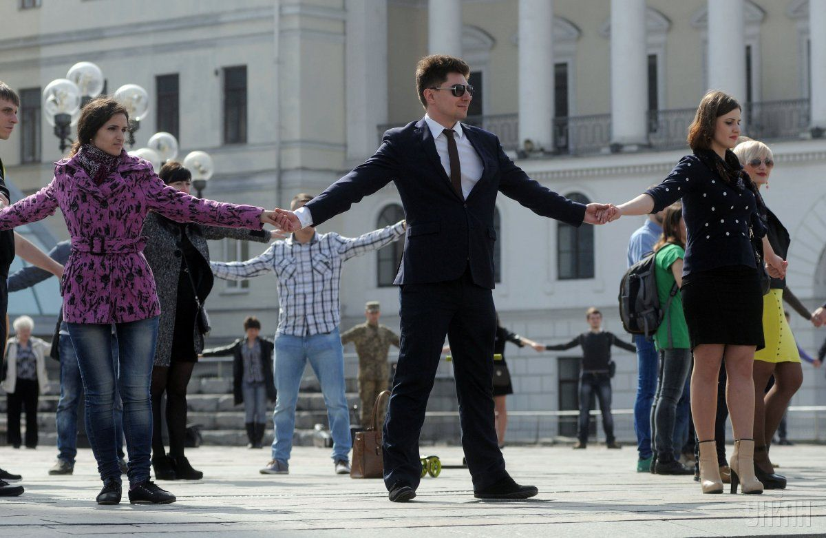 Акция прошла в рамках съемки социального ролика / фото УНИАН