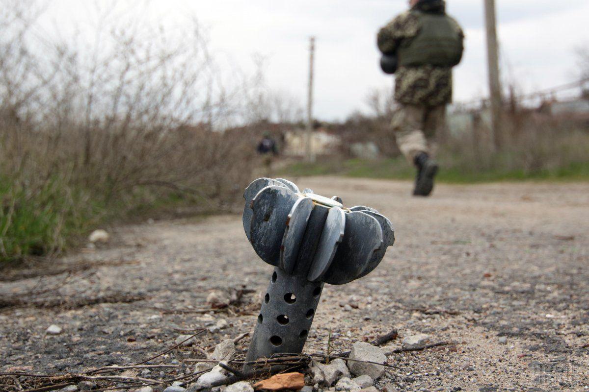 Боевики использовали минометы калибра 120 мм/ фото УНИАН