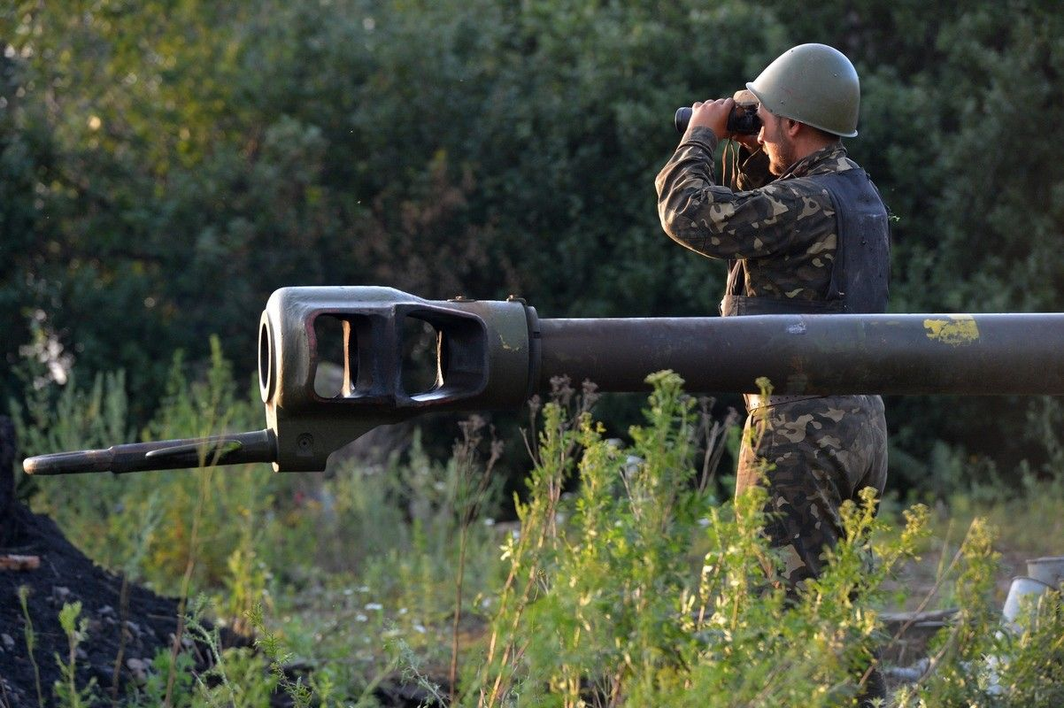 One Ukrainian soldier was wounded on Thursday, two were injured in a landmine blast on Wednesday / Photo from mil.gov.ua