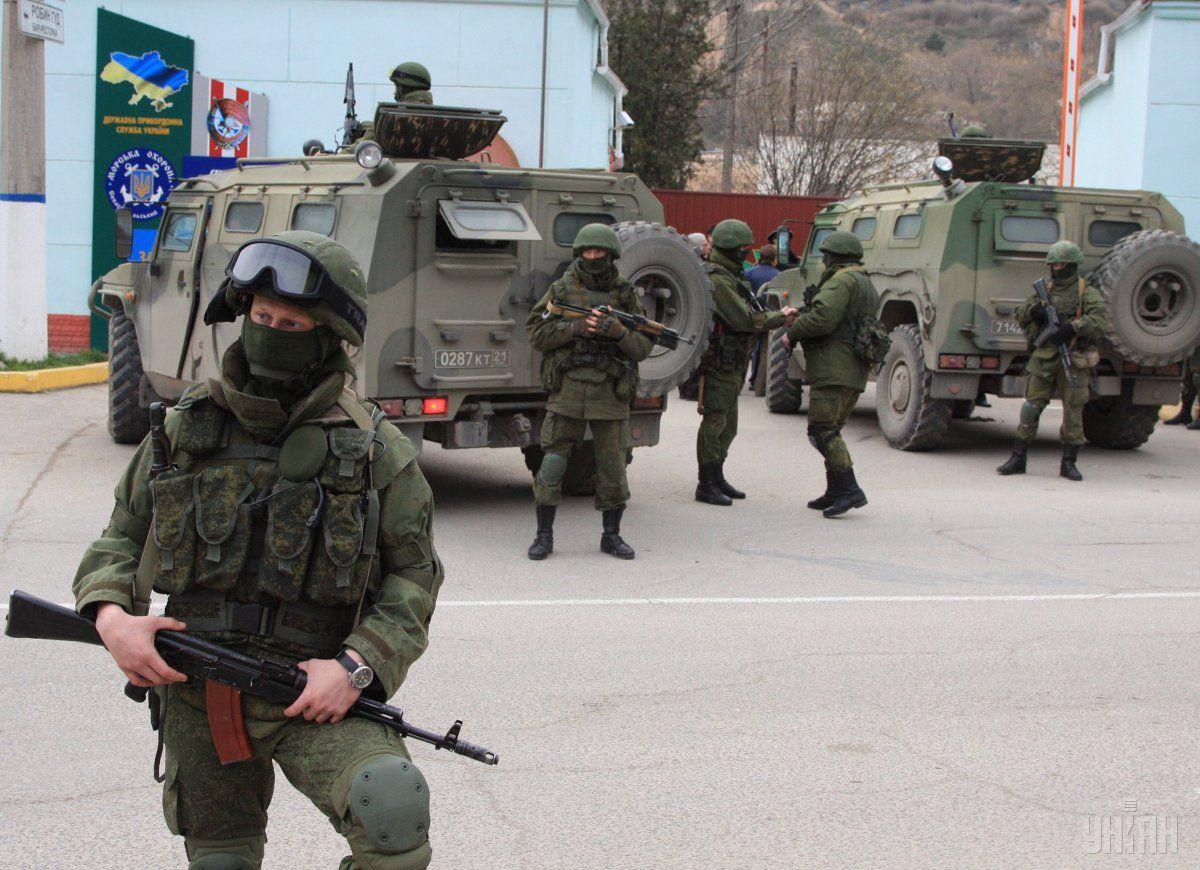Российские оккупанты в Крыму в 2014 году / фото УНИАН