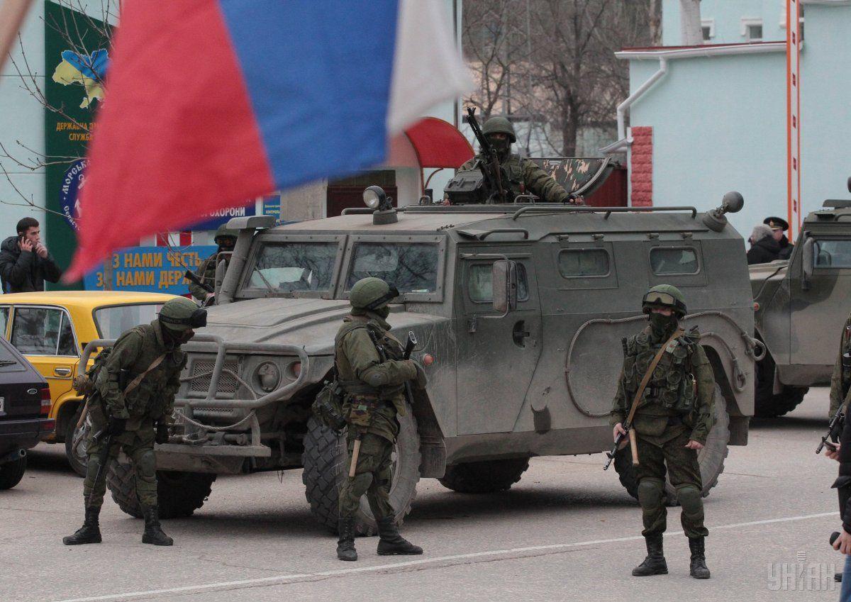 """""""Зеленые человечки"""" - российские военные / фото УНИАН"""