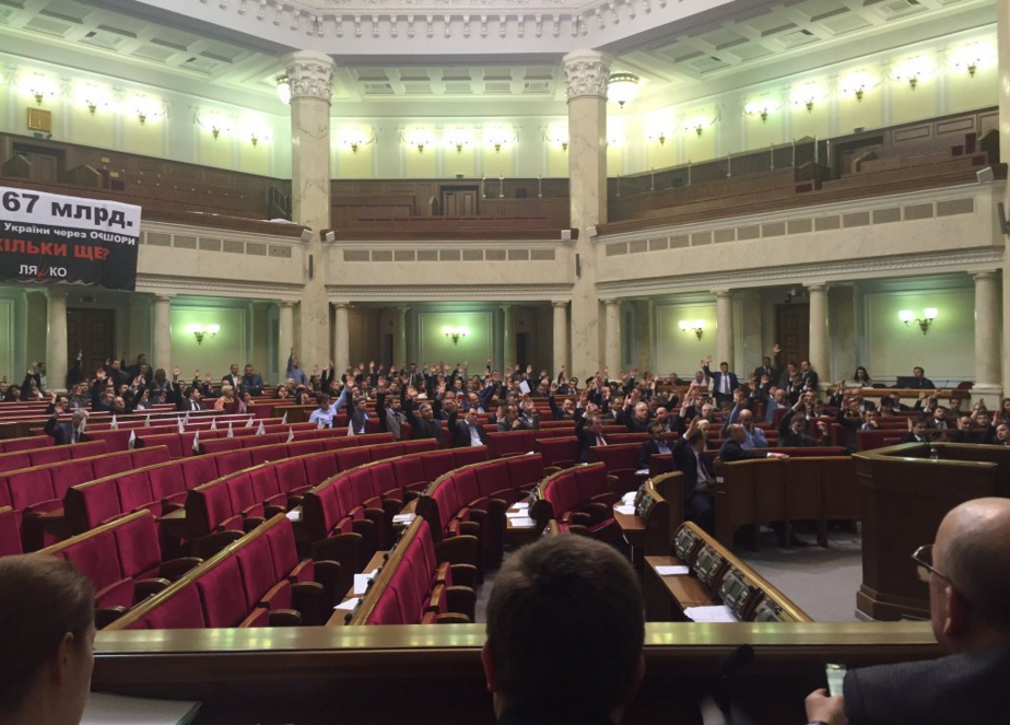 The formation of a new parliamentary coalition in Ukraine / twitter.com/D_Stoliarchuk