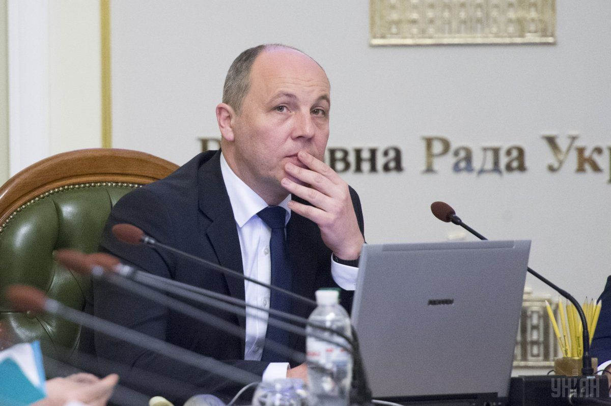 Speaker Parubiy announced the filing of nominations to the TIC / Photo from UNIAN