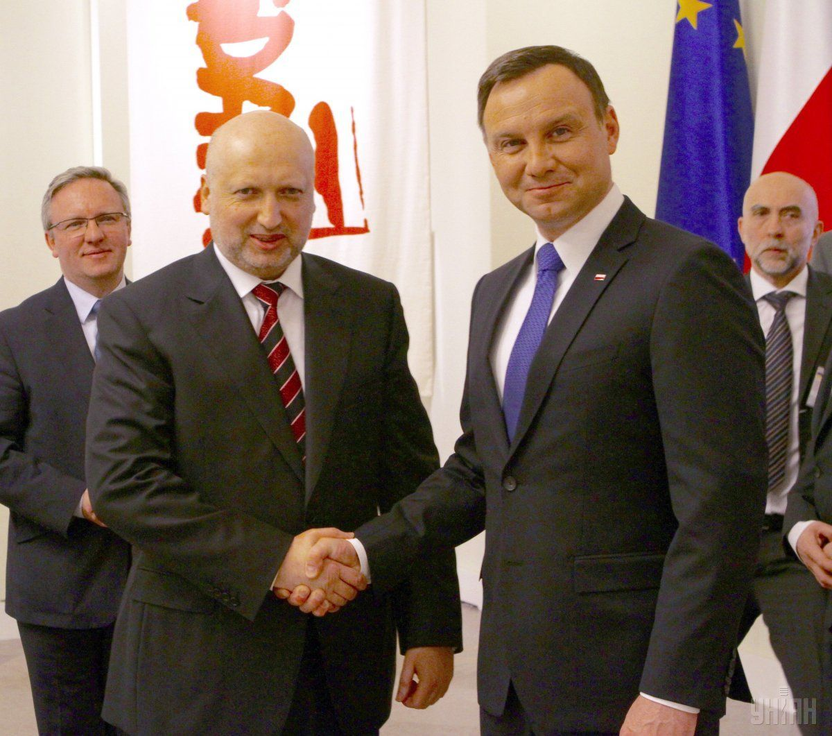Turchynov visited the Polish capital / Photo from UNIAN