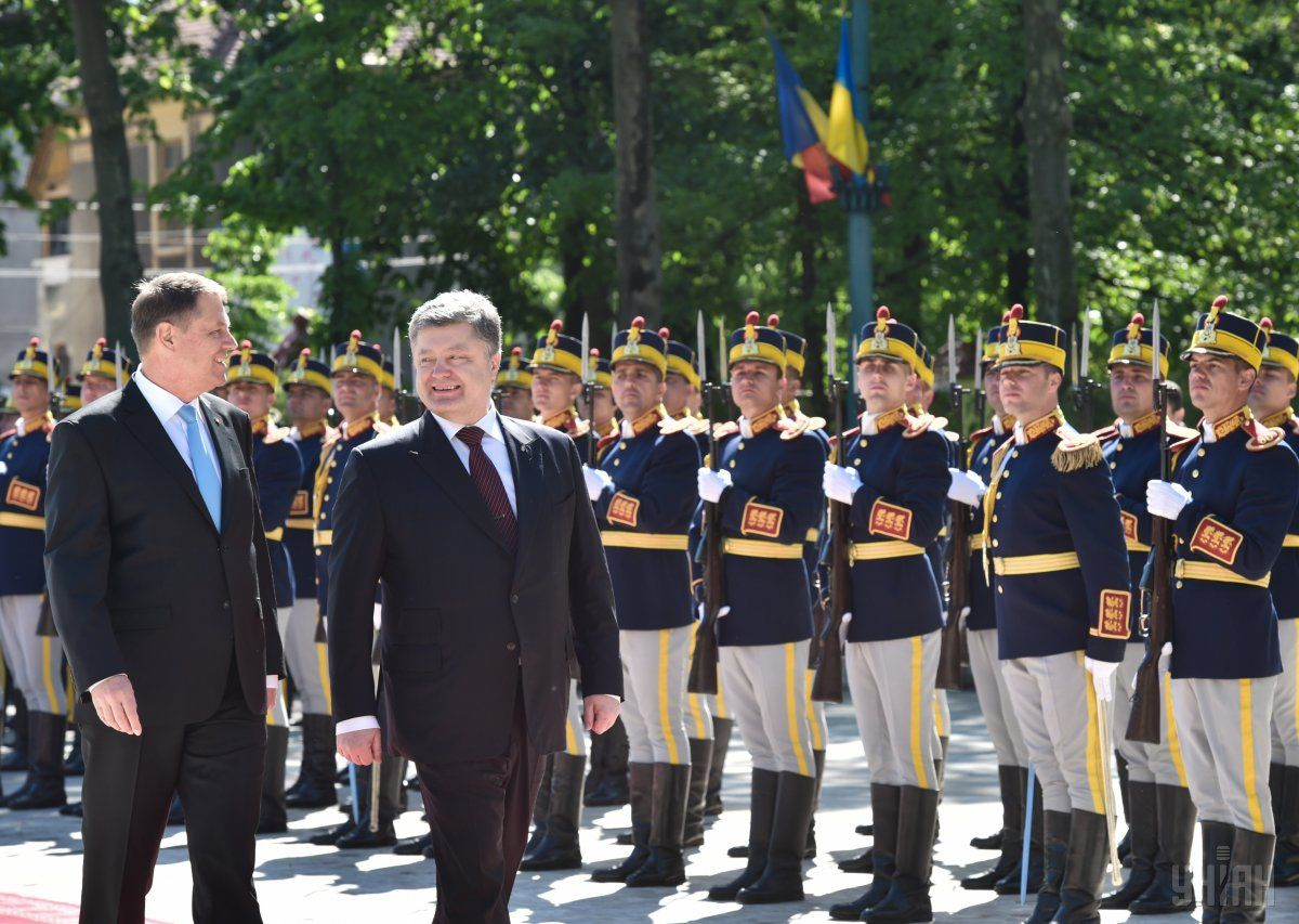 Poroshenko is meeting his Romanian counterpart Klaus Iohannis in Bucharest on Thursday / Photo from UNIAN