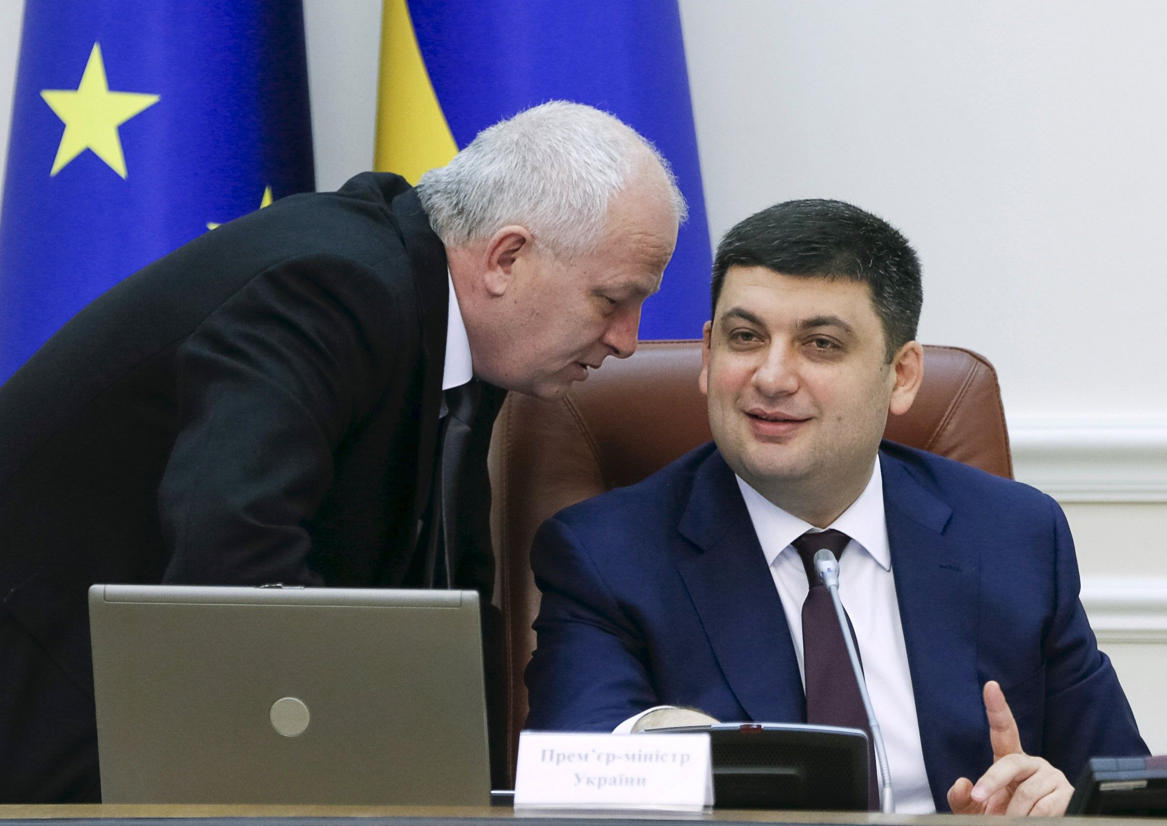 Степан Кубів та Володимир Гройсман / REUTERS