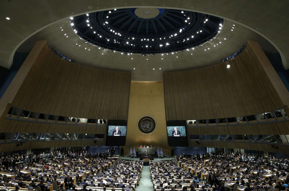 Официальная церемония подписания климатического соглашения в штаб квартире ООН / REUTERS