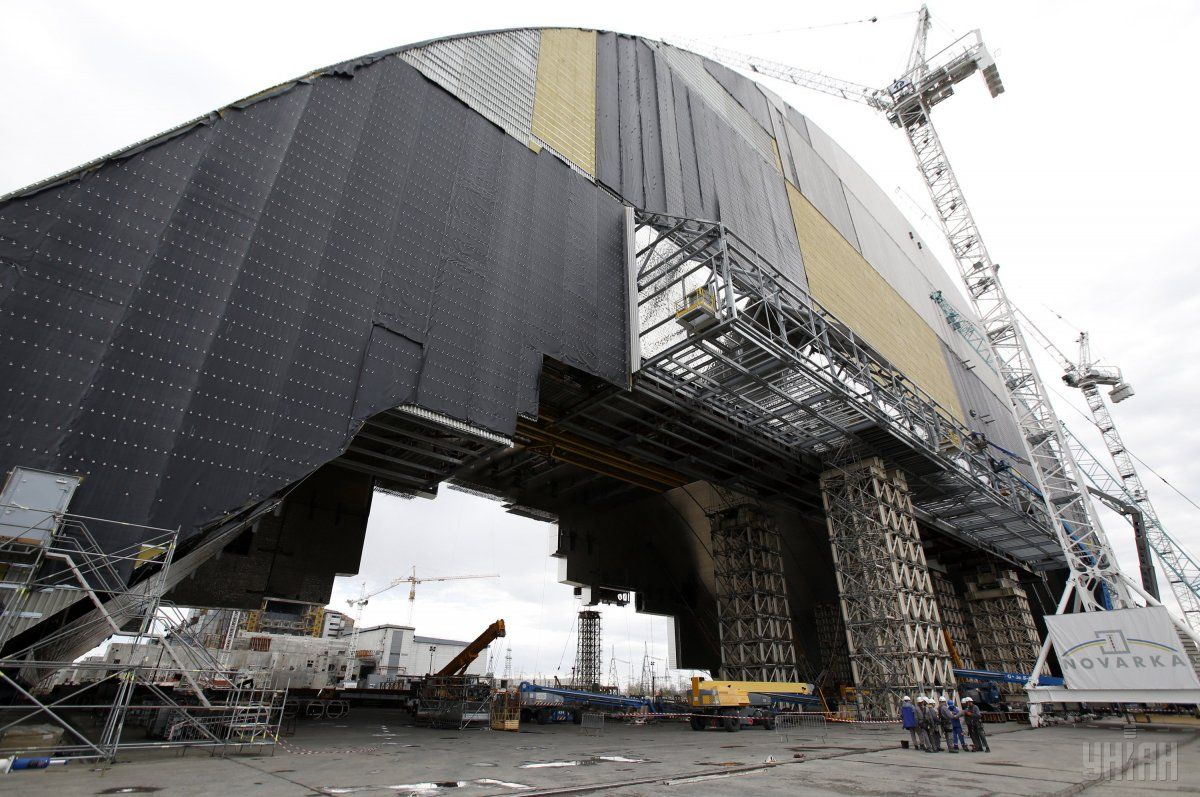 Construction of a new confinement at Chornobyl NPP/ Photo from UNIAN