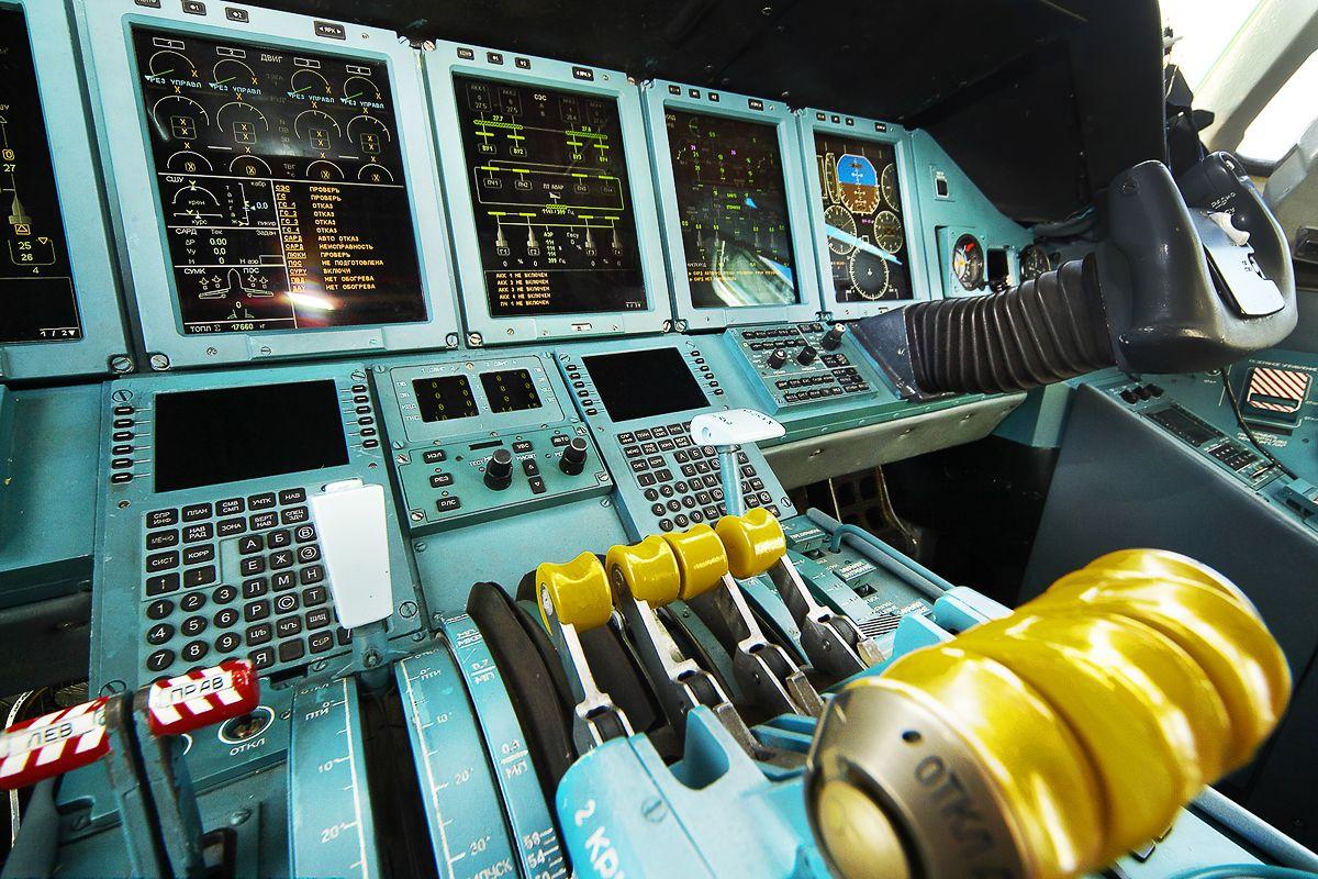 A modernized cabin of An-70