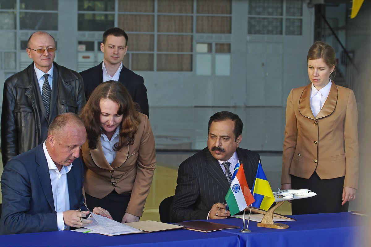 The signing of memoranda of understanding in the aviation sphere between Ukrainian and Indian parties