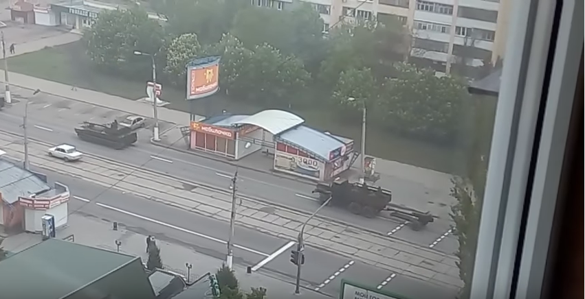 техника, колонна, Луганск / Скриншот