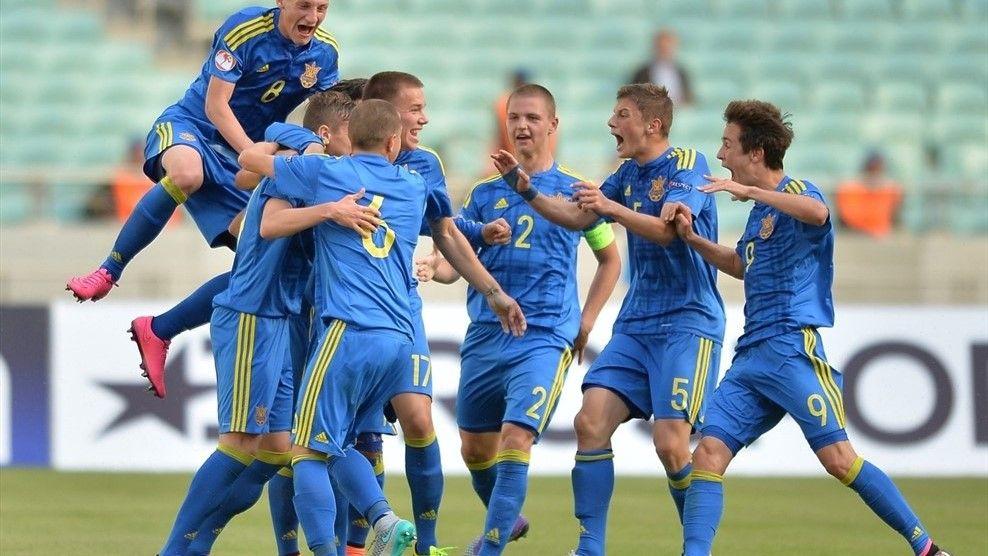 Игроки сборной Украины забили два гола в ворота команды Германии / uefa.com/under17