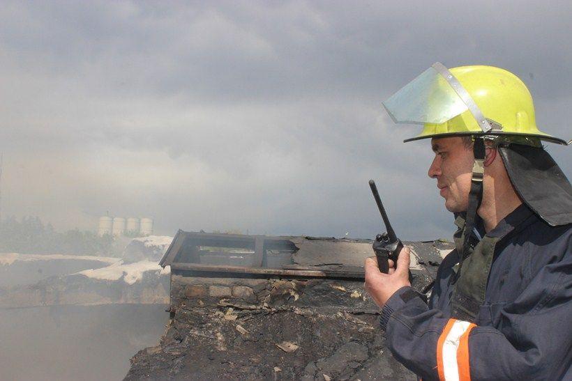 Через пожежу на полігоні призупинили стрільби  / kyivobl.mns.gov.ua
