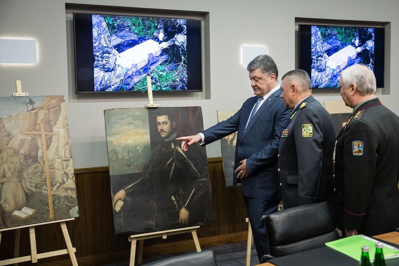 The total value of the paintings found exceeds EUR 16 million / president.gov.ua