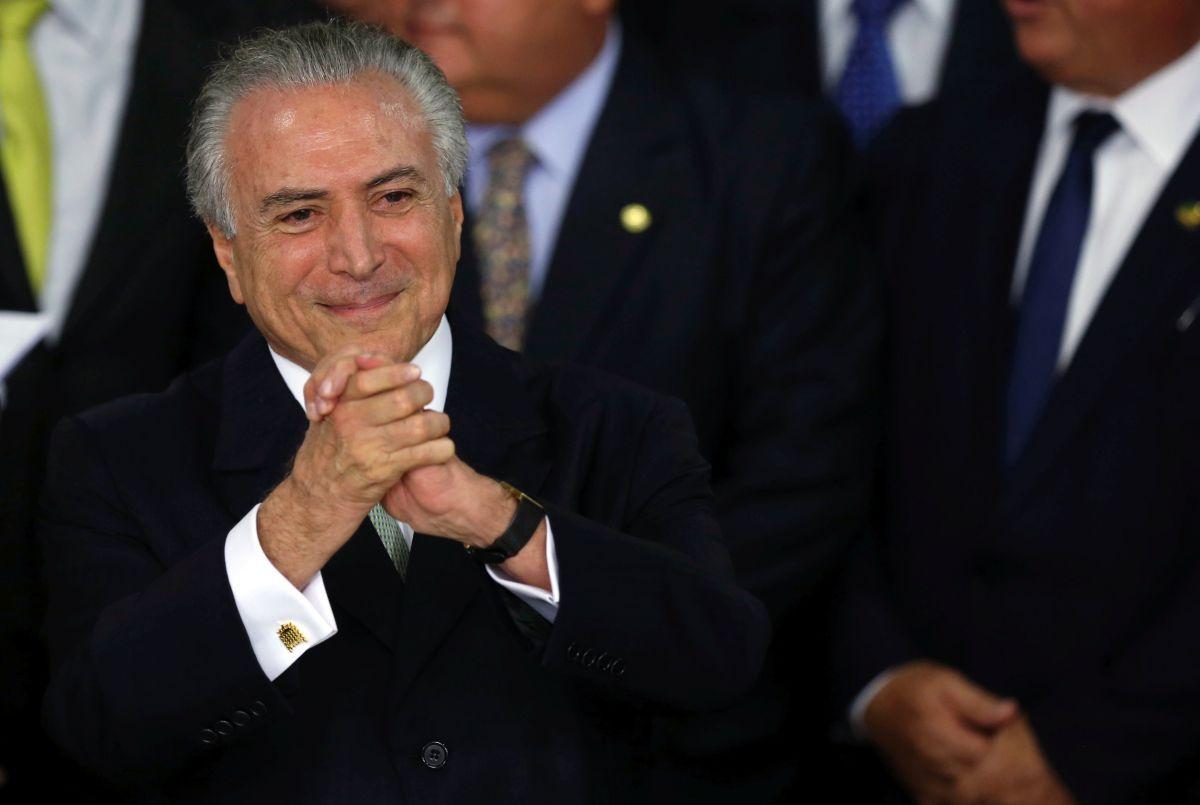 75ffbe977d81 И.о. президента Бразилии Мишел Темер призывает страну к объединению ...