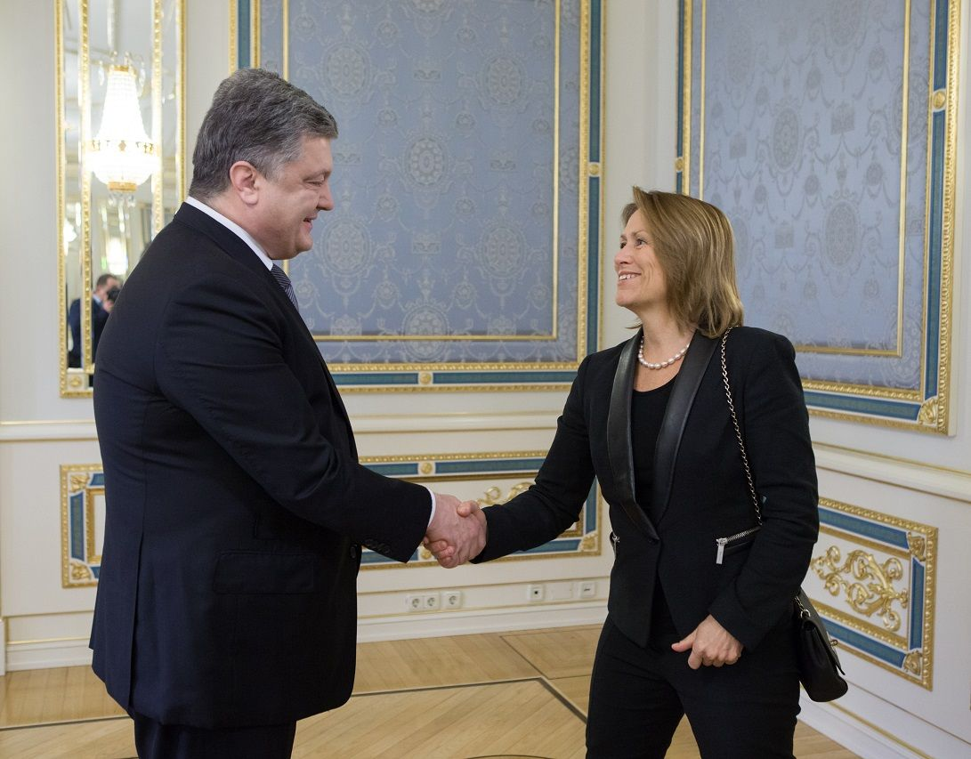 Poroshenko and Faremo agreed to consider the issue of creating a new UNOPS office / Photo from president.gov.ua