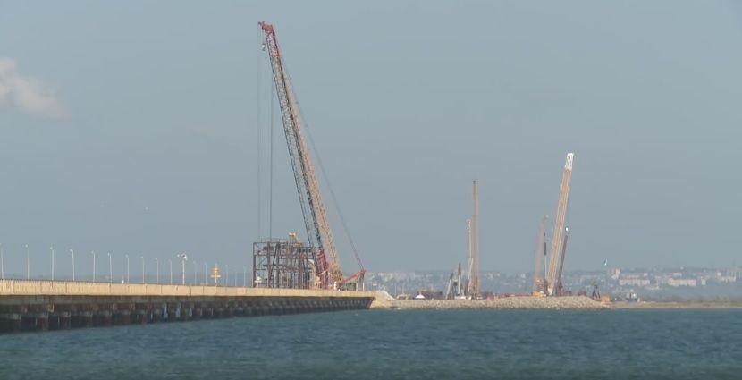 Появились проблемы с поиском подрядчиков для строительства Керченского моста / Скриншот видео
