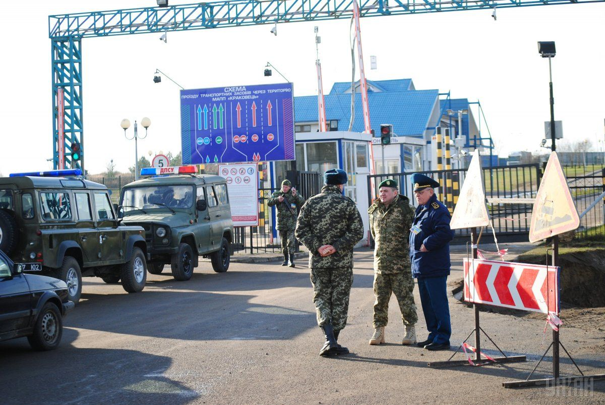 Checkpoints on the border with Poland / Photo from UNIAN