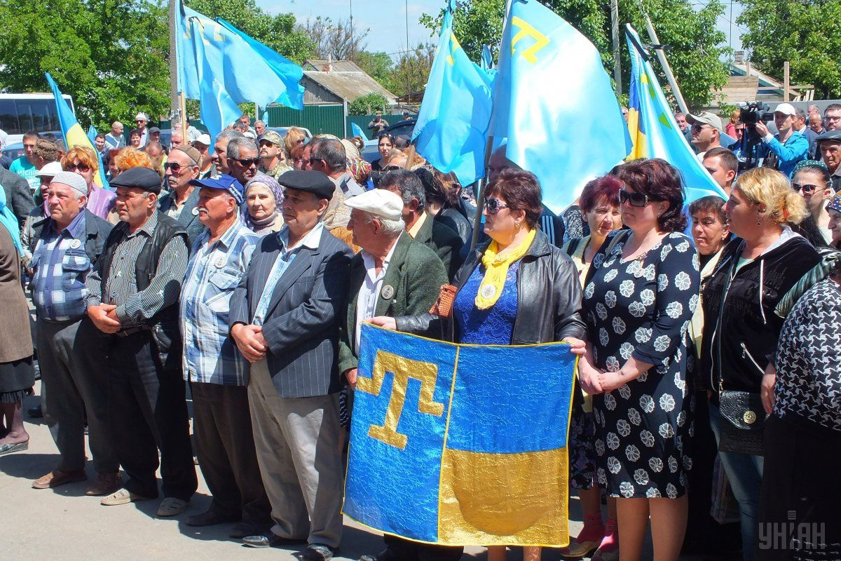 Митинг памяти жертв депортации крымскотатарского народа в Геническе / УНИАН