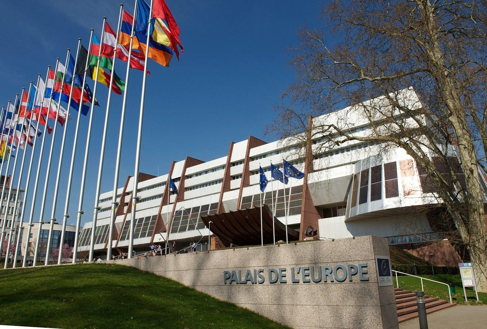 Под зданием Совета Европы проходит пикет / фото grushevskogo5.com