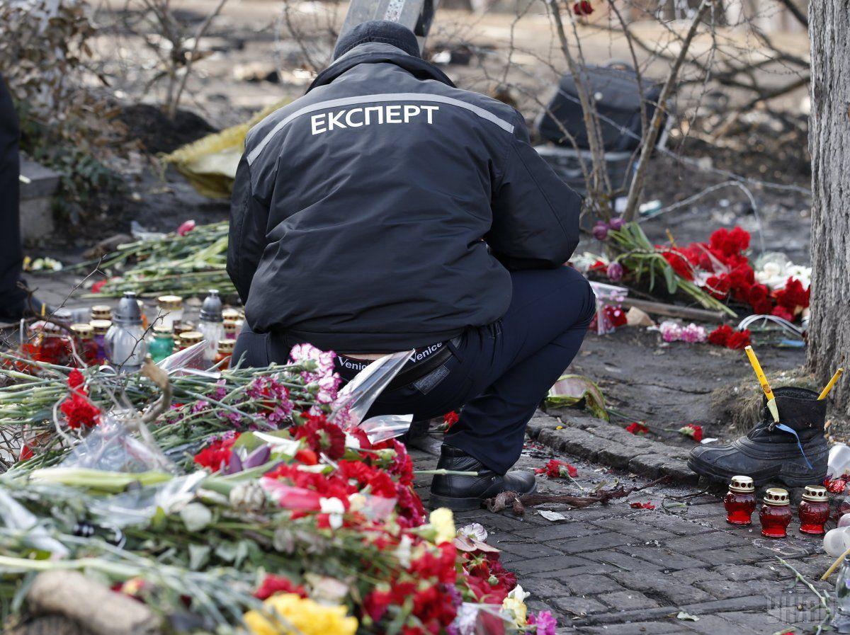 Куля була випущена з автомата, закріпленого за одним з військовослужбовців київської роти Беркута / Фото УНІАН