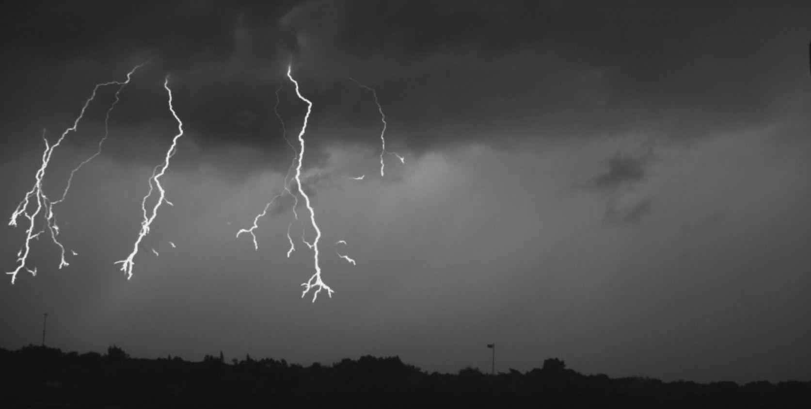 Во время ливня от удара молнии в полемужчины погибли / скриншот