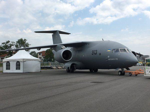 Украинский самолет Ан-178 уже прибыл на Берлинский авиасалон / twitter.com/FlyLinDi