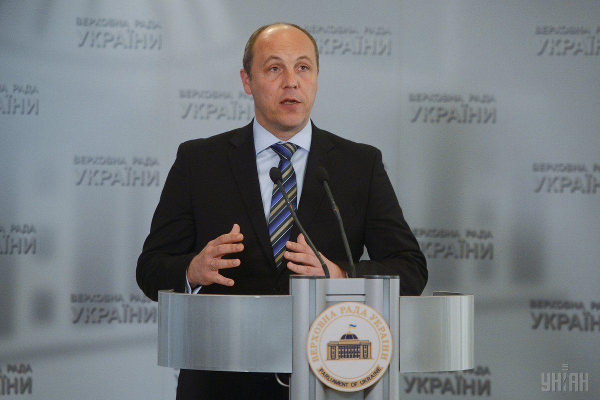 Парубий отмечает, что Революция достоинства победила благодаря единению украинцев \ фото УНИАН