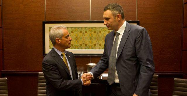 Віталій Кличко зустрівся з мером Чикаго Рамом Емануелем / Фото kievcity.gov.ua
