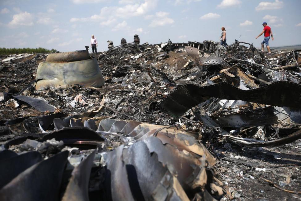 Место катастрофы рейса МН17 / REUTERS