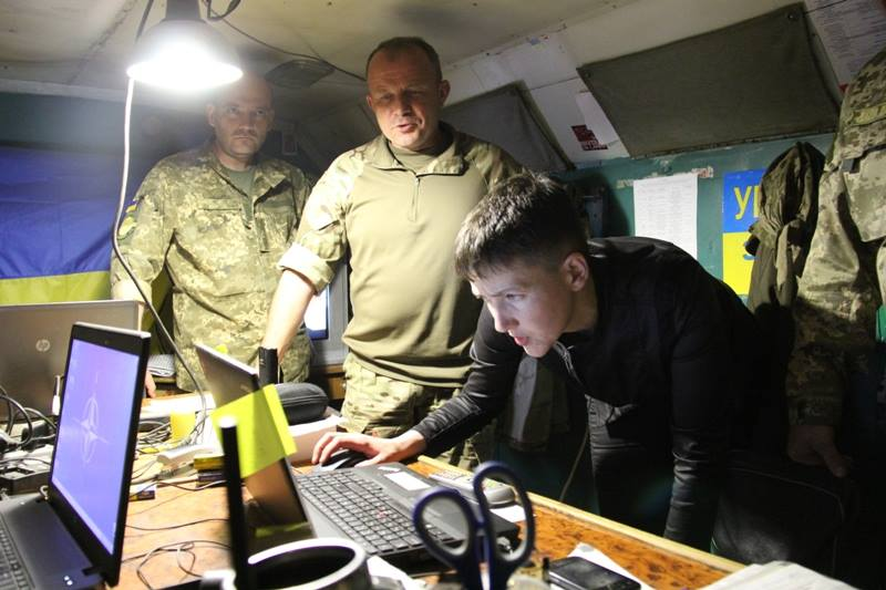 Savchenko has visited the area of ​​the ATO / facebook.com/ato.news