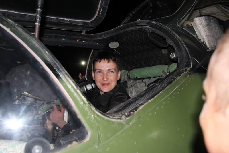 Савченко від розмов та солодких мрій про хунту перейшла до конкретної справи / Фото facebook.com/ato.news