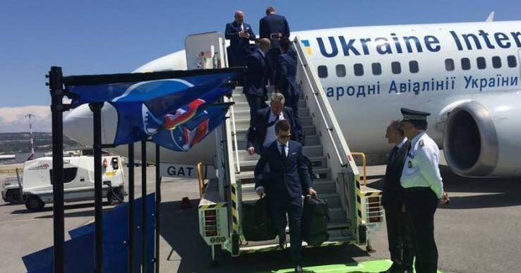 Сборная Украины приземлилась в Марселе / ФФУ