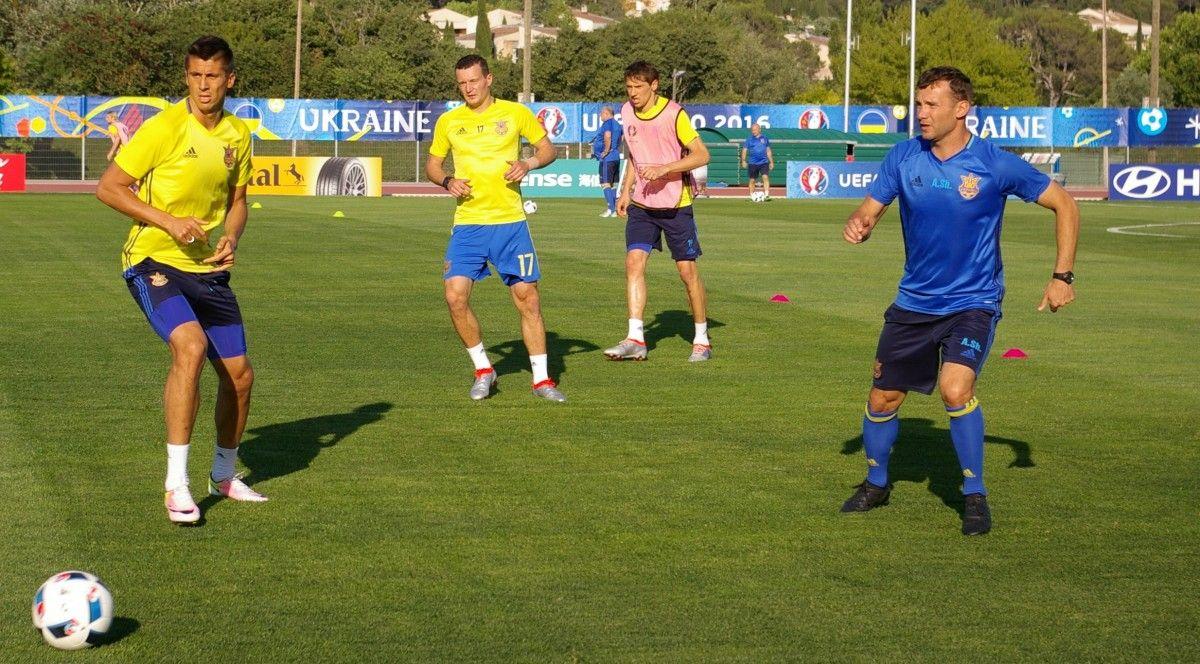 Сборная Украины провела открытую тренировку / sportarena.com