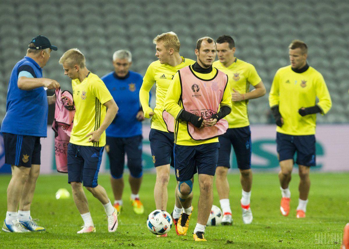 Тренировка сборной Украины накануне матча против команды Германии / УНИАН