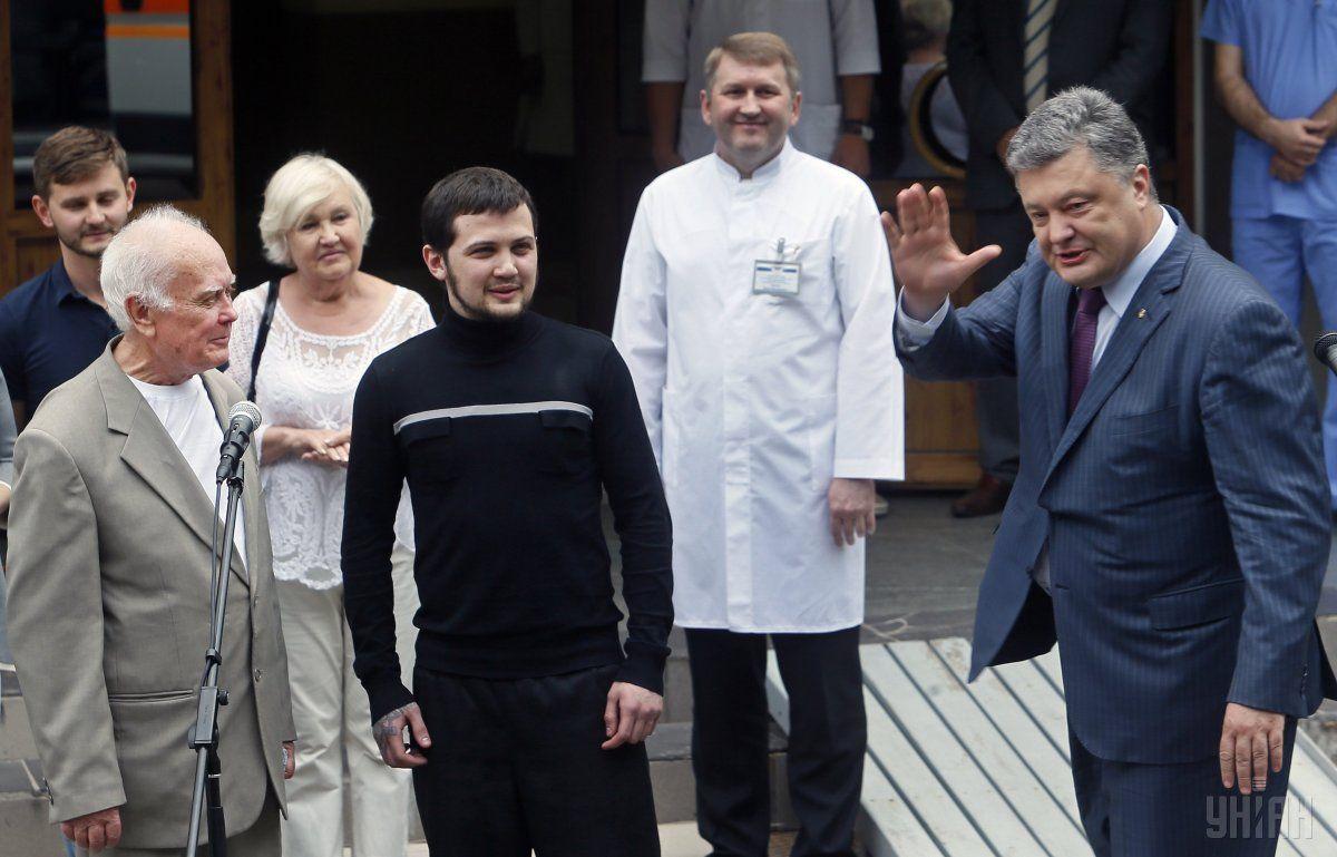 Повернення Афанасєва і Солошенка / фото: УНІАН