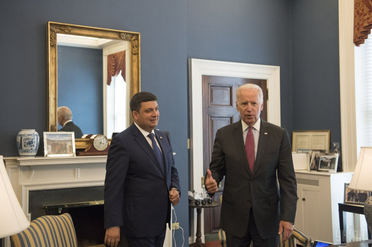 Ukrainian Prime Minister Volodymyr Groysman and U.S. Vice President Joe Biden, Washington (USA), June 15, 2016 / Photo from UNIAN