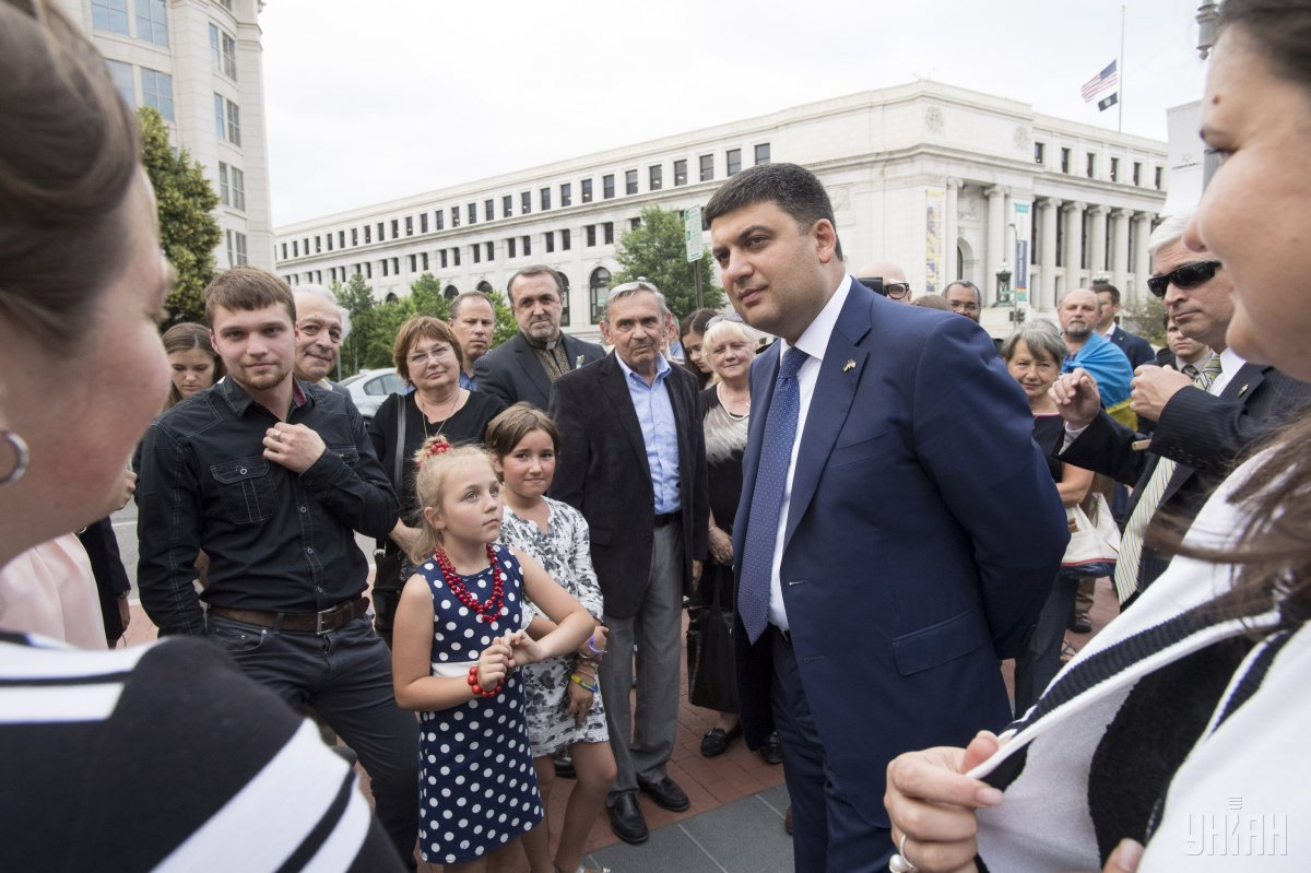 Groysman paid an official visit to the United States / Photo from UNIAN